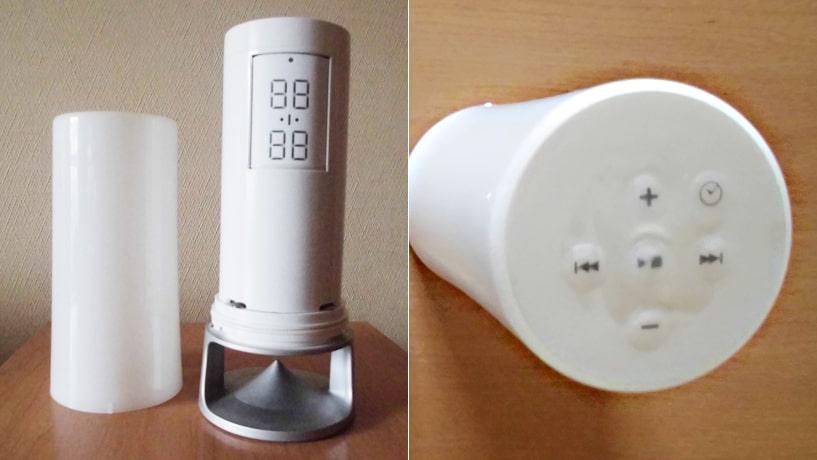 ノーリツの防水MP3プレーヤー カバー取り外し時と上部ボタン